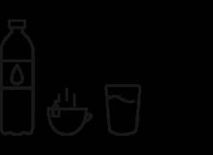 icono agua infusiones café