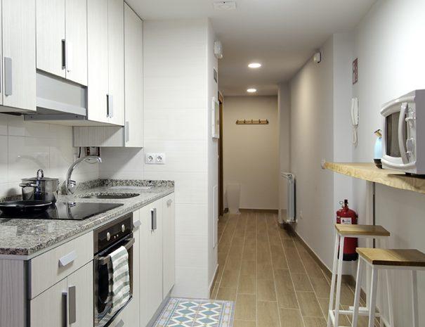 Cocina y entrada