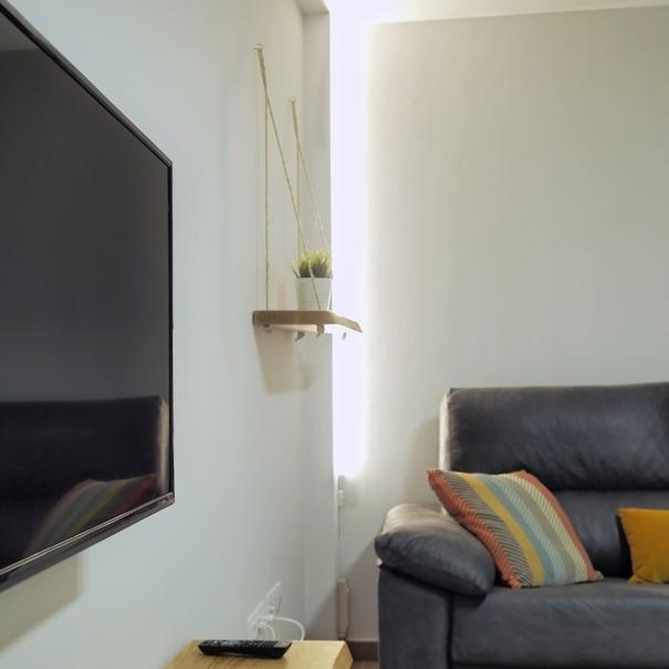 Apartamento Estella-Lizarra I detalle sofa tv