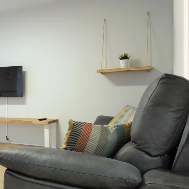 Apartamento Estella-Lizarra I sofa tv