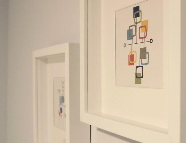 Detalle cuadros dormitorio